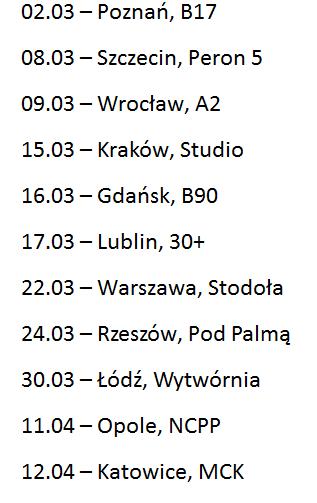 ostr koncerty