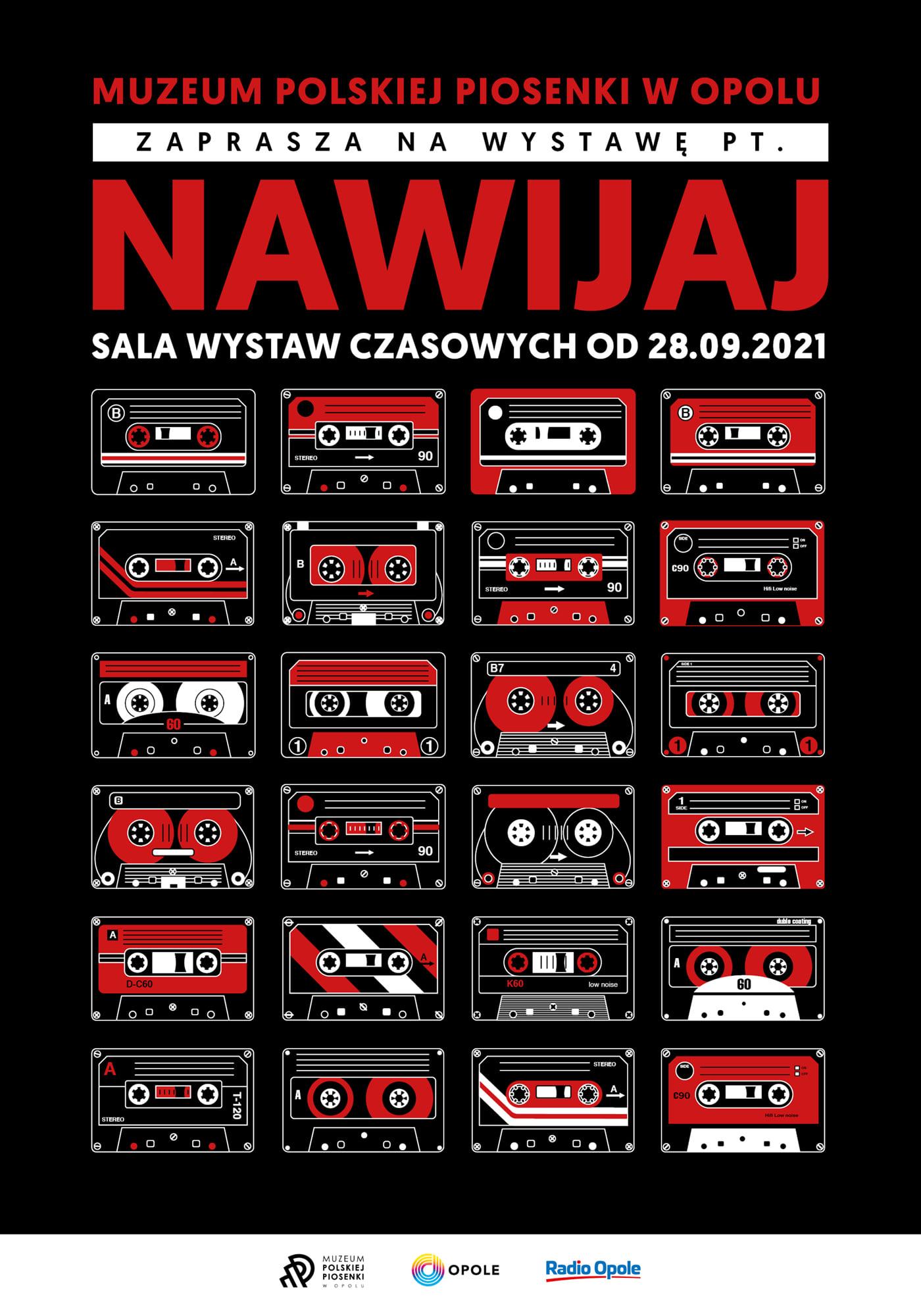 """Plakat wystawy """"Nawijaj"""" w Muzeum Polskiej Piosenki"""